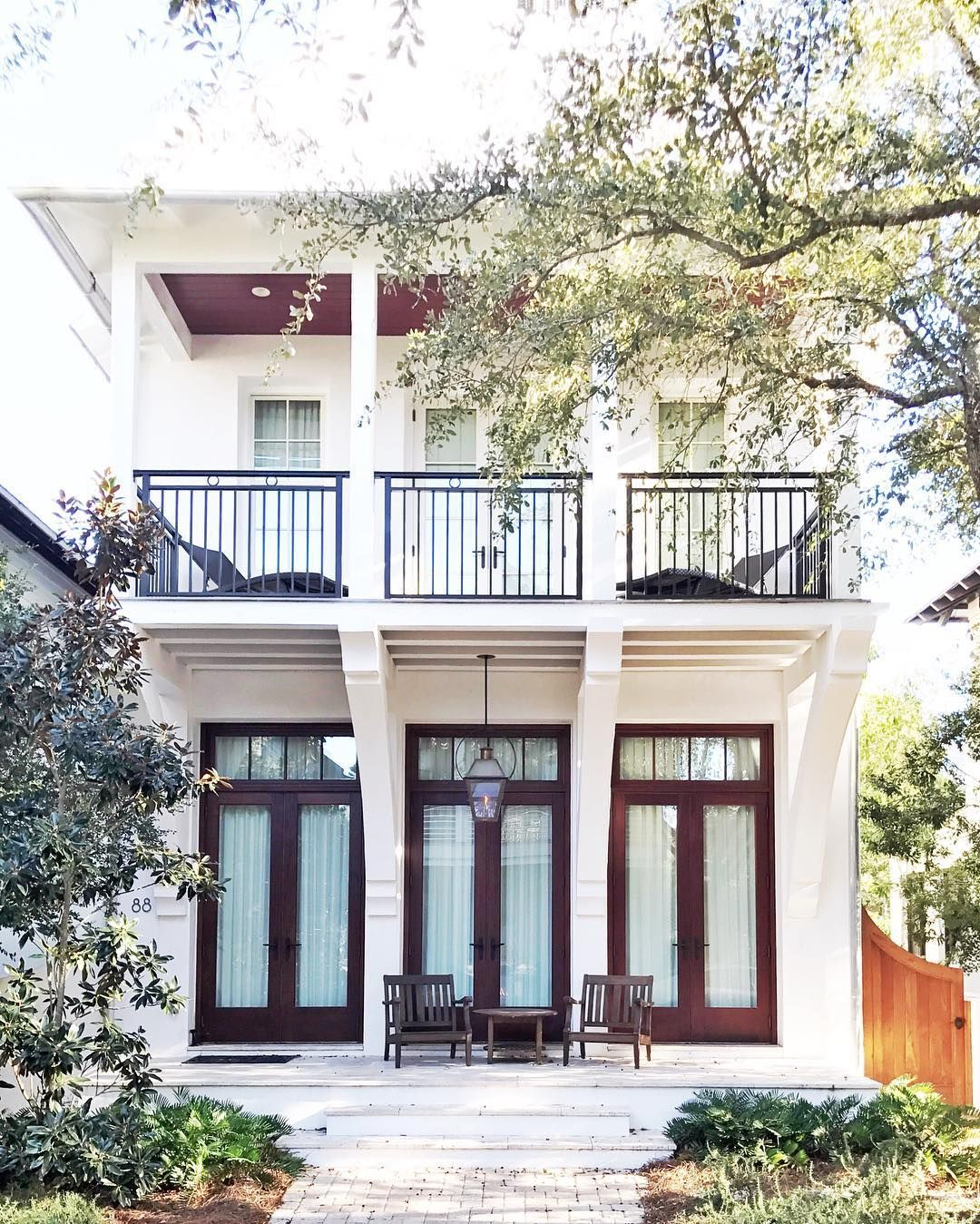 Triple french doors on front porch | Balcony window in 2019 | House on