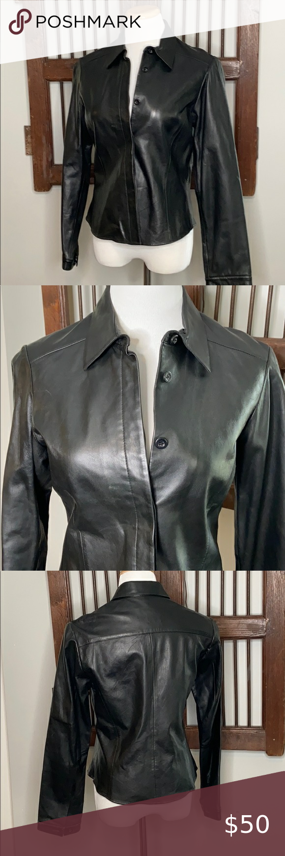 Vakko Sport 100 Leather Black Jacket With Buttons Leather Jacket Black Black Jacket Jackets