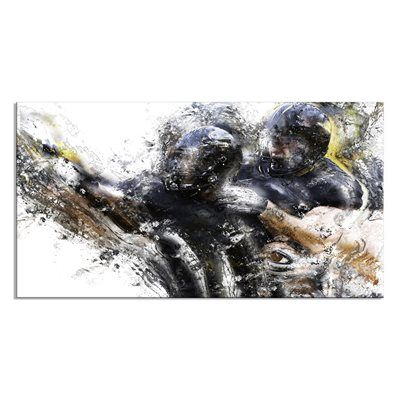 Designart Canada PT2562-32-16 Football Take Down Art on Canvas