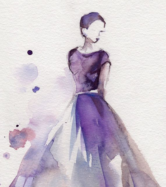 Original aquarell ballerina malerei aquarell kunst von for Pinterest aquarell