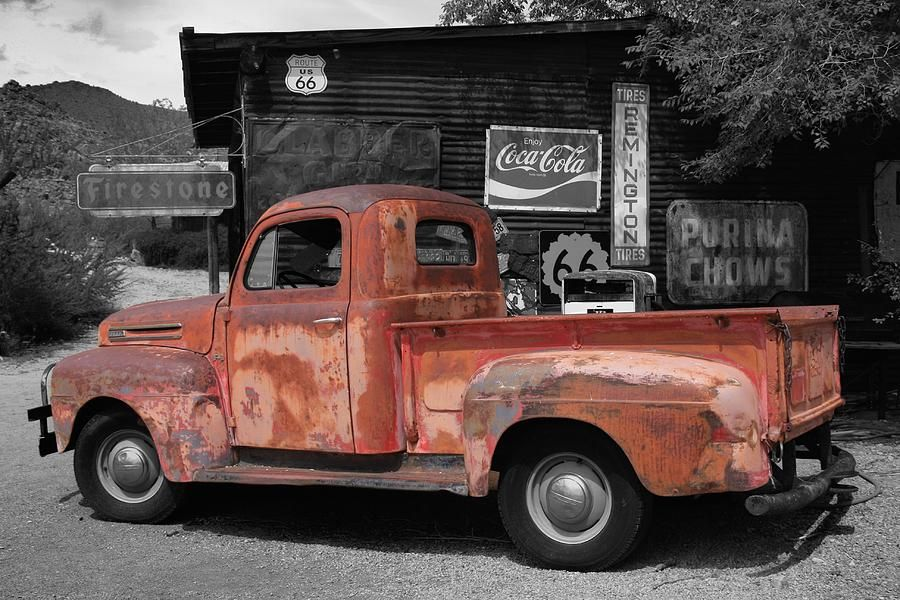 Old Ford Pickup Truck On Route 66 by Robert Sirignano | trucks ...