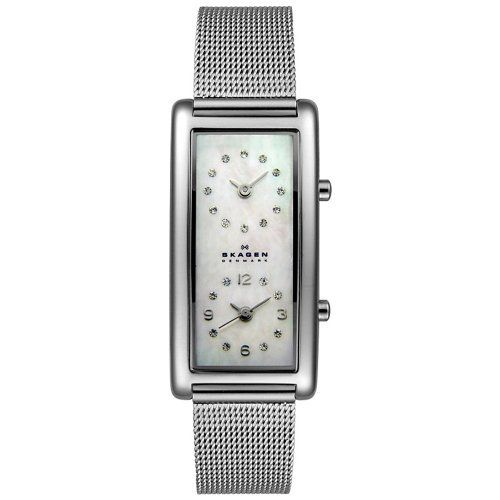 You always know what time it is when it is important.  I loved mine!       Skagen Women's 20SSSMP Steel Collection Dual Time Zone Stainless Steel Watch Skagen, http://www.amazon.com/gp/product/B0014G6S3M/ref=cm_sw_r_pi_alp_GMkvqb0YTSWE4