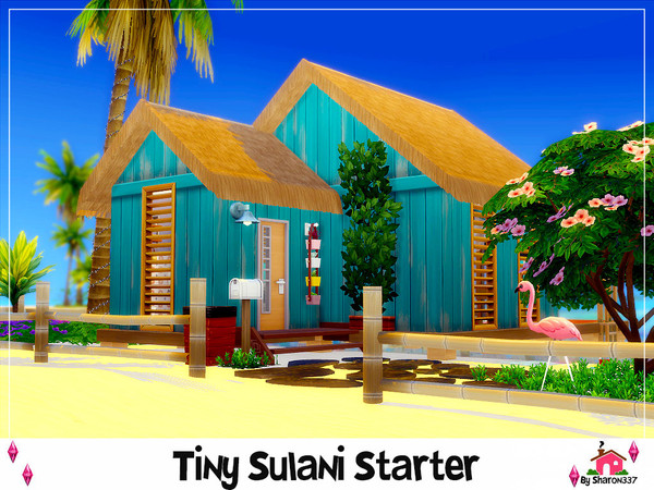 Sharon337 S Tiny Sulani Starter Nocc In 2020 The Sims 4 Lots Sims Island Living
