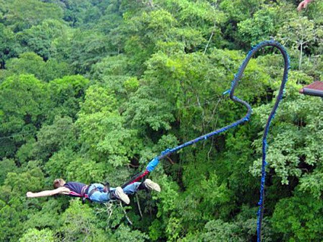 Highest Bungee Jump In Central America Bungee Jumping Costa Rica Monteverde