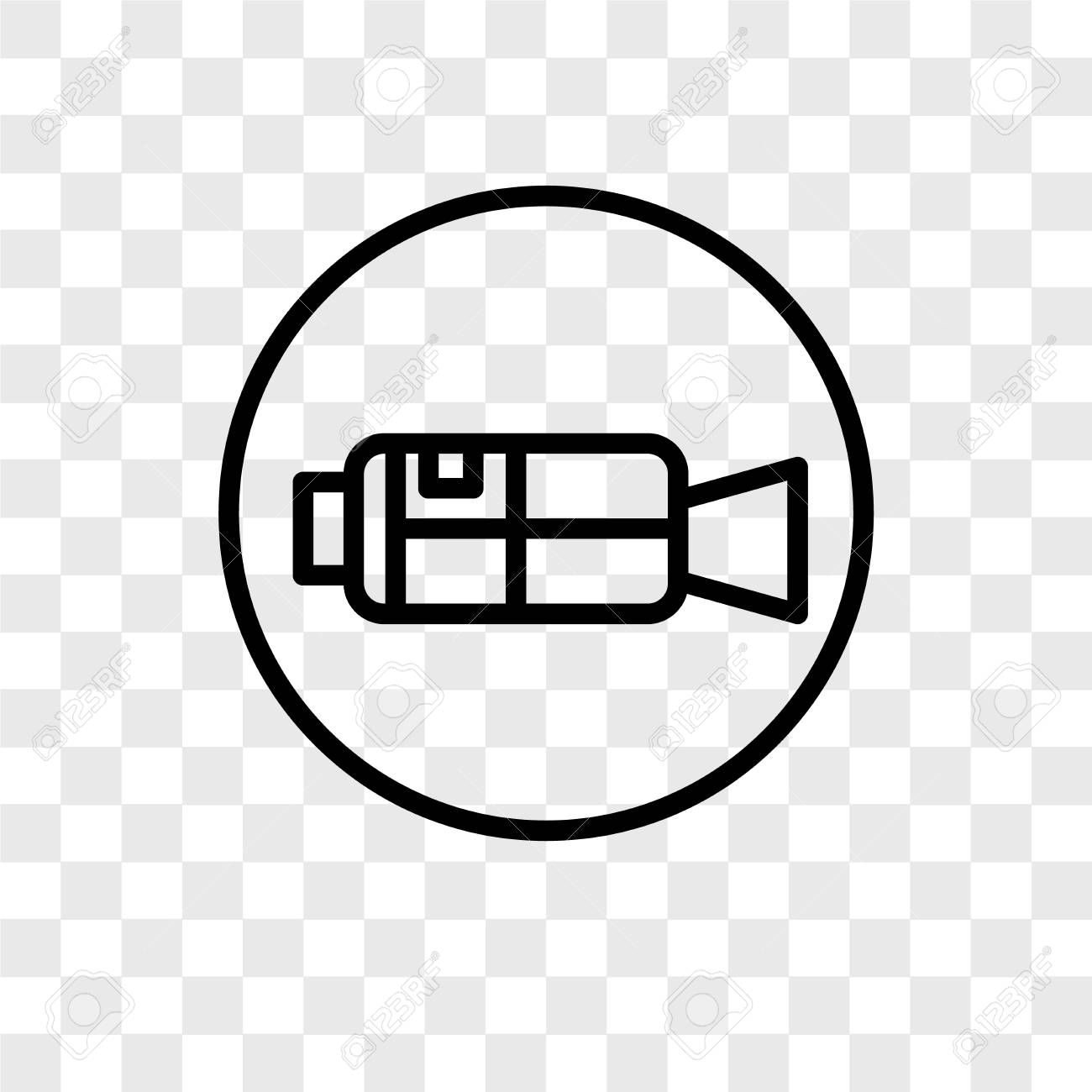 Video Camera Vector Icon Isolated On Transparent Background Video Camera Logo Concept Affiliate Vector Icon Vide Logo Concept Camera Logo Symbol Logo