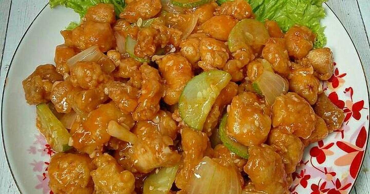 Resep Ayam Asam Manis Oleh Susan Mellyani Resep Resep Ayam Babi Asam Manis Makanan Dan Minuman