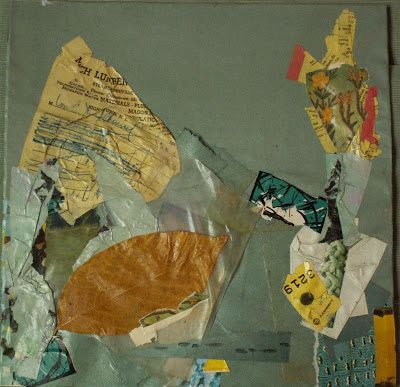 """""""footsteps"""" mixed media collage by gregory a. milinovich, from the unlikely orange: collage"""
