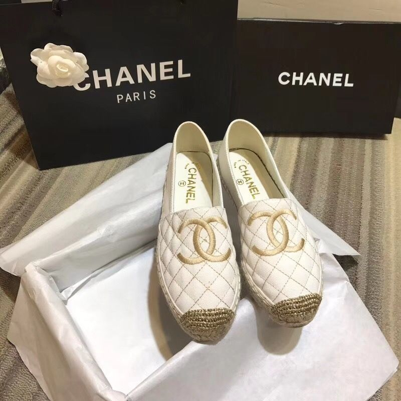 Chanel woman shoes new canvas
