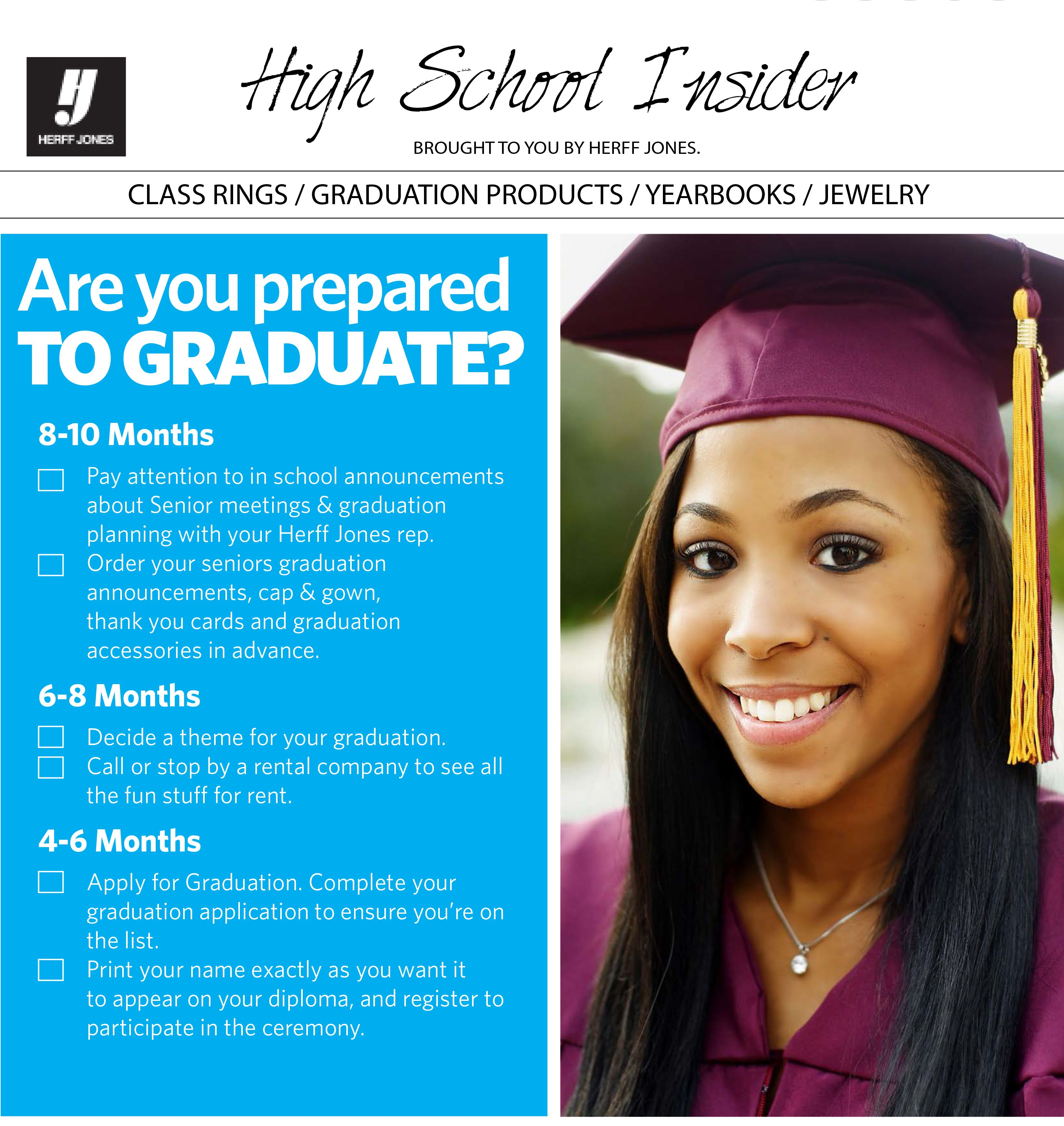 Ready For Graduation Print Out This Checklist And See