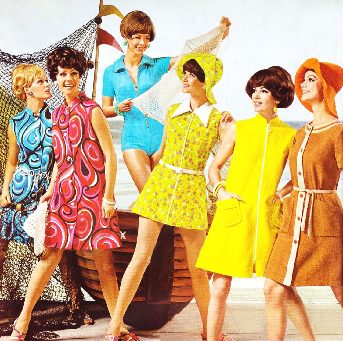 Vintage Look Image Result For Bright Vibrant Clothing 70's Vintage Look | 1960s Fashion, 60s Fashion, Retro Fashion