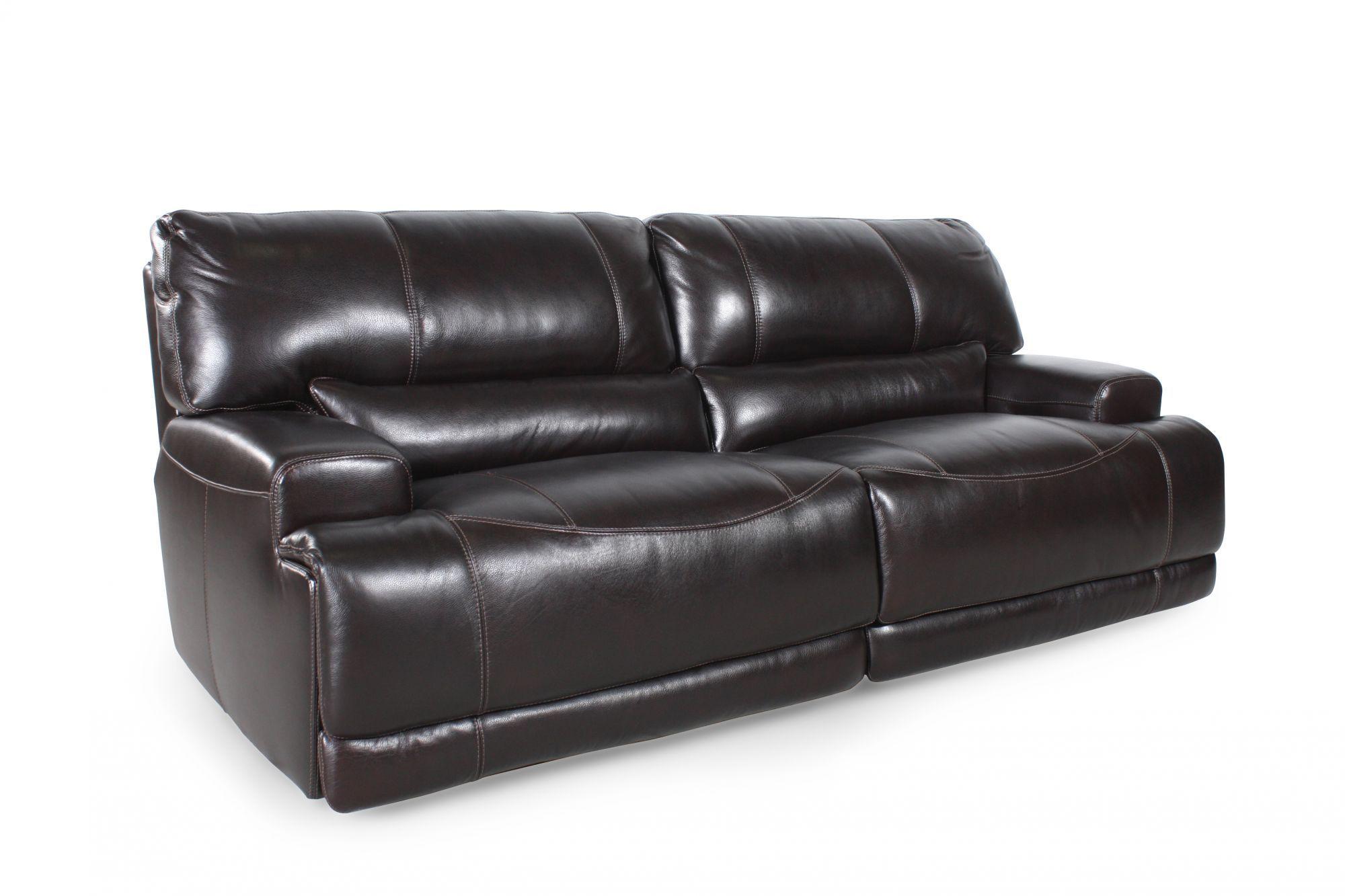 Simon Li Leather Longhorn Blackberry Sofa Sofa Leather