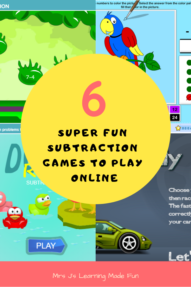 Six Super fun subtraction games to play free online.