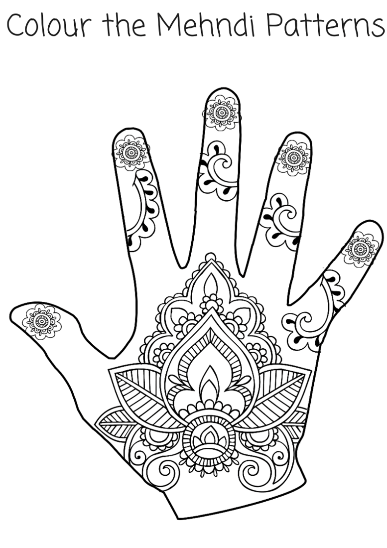 Henna Coloring Pages For Girls Printable Shelter Henna Design Printable Henna Designs Hand Mehndi Patterns