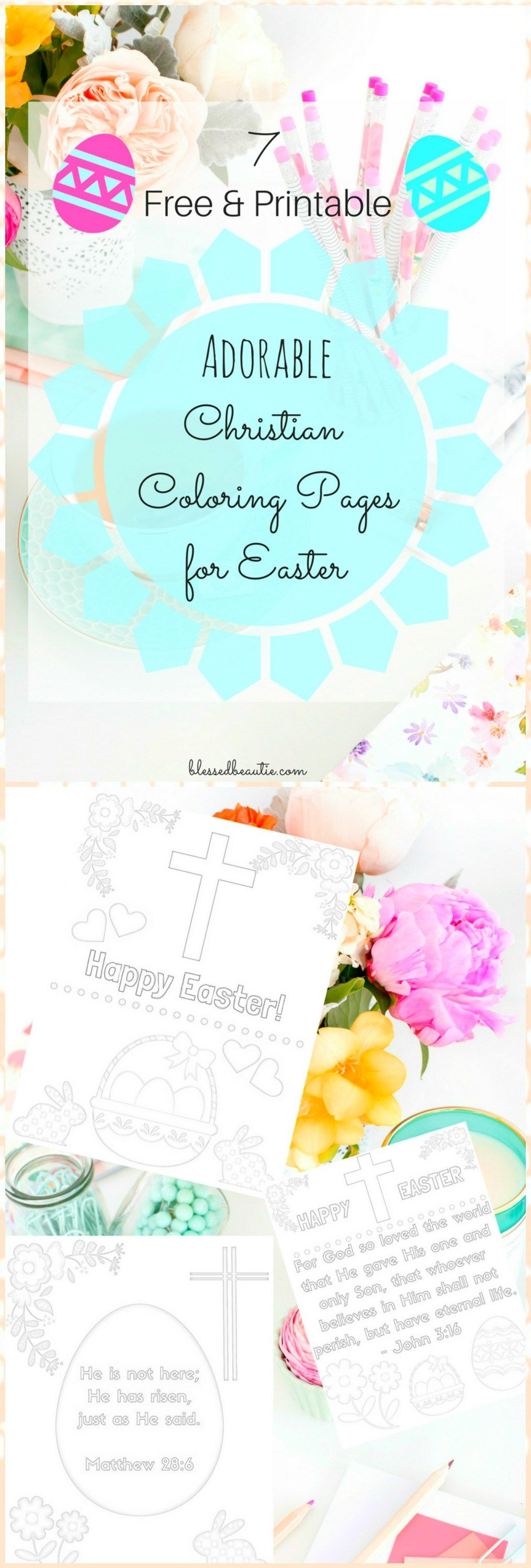 Adorable printable christian easter coloring pages for kids free