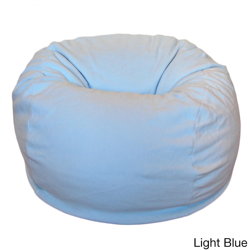 Anti Pill 36 Inch Wide Fleece Washable Bean Bag Chair Light Blue Ahh Products