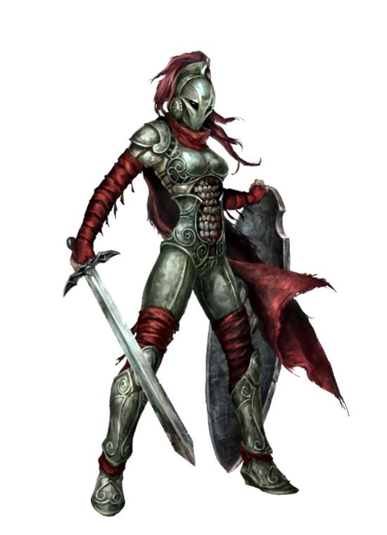 Female Sword and Board Fighter - Pathfinder PFRPG DND D&D ...