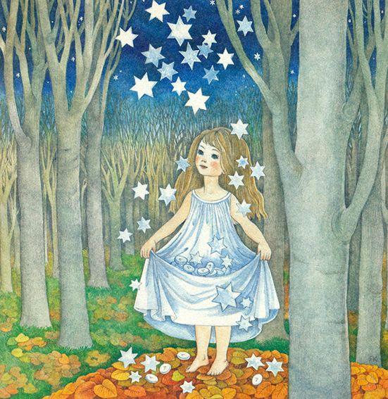 Mond Sterne Kleid: Die Sterntaler (Illustrationen)