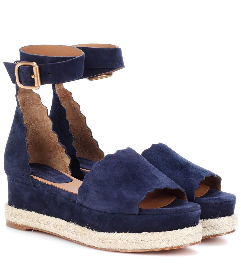 Sandales à plateforme en daim LaurenChloé ydlySqO