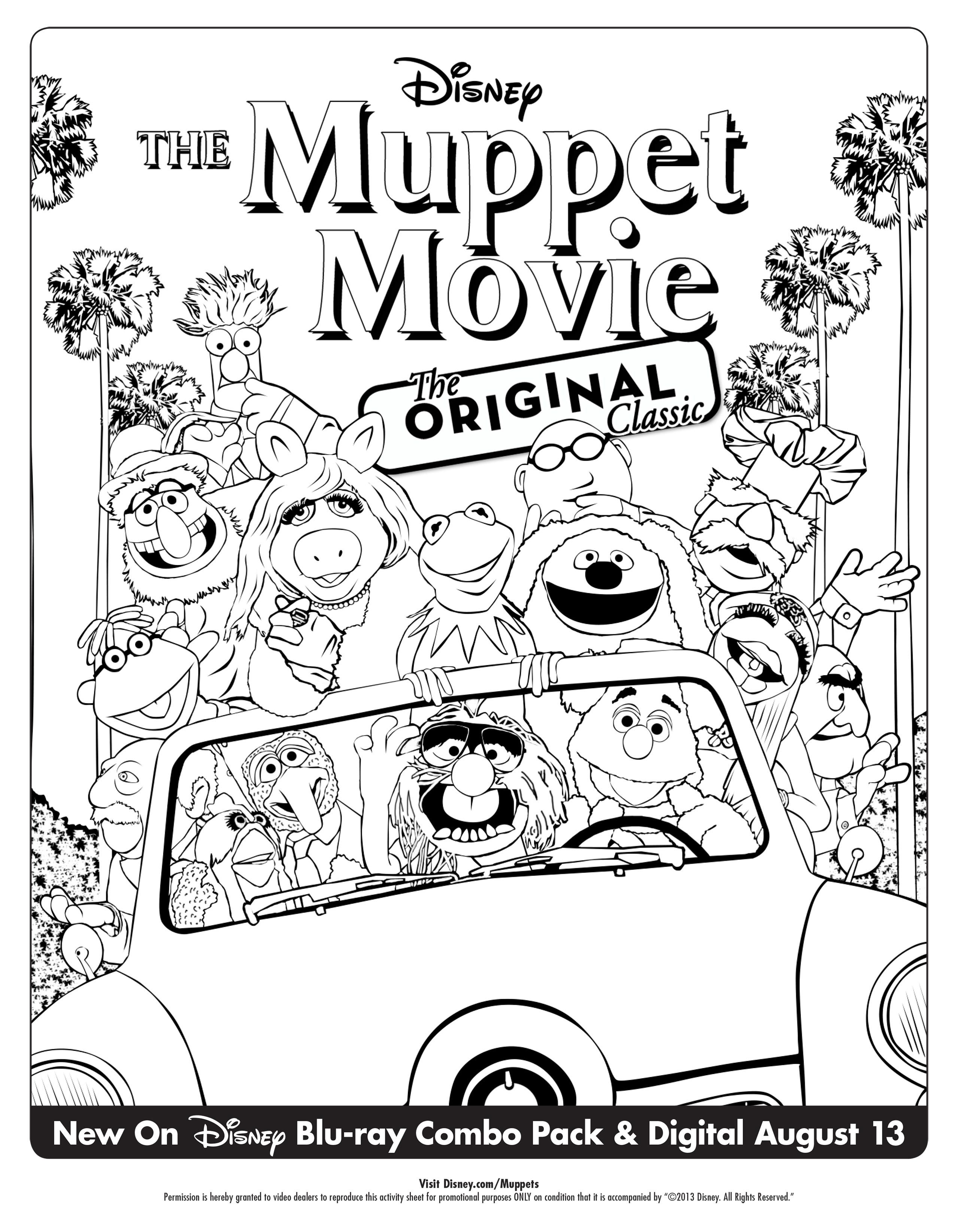 Get Your Family Ready For The Muppet Movie Nearly 35th Anniversary Edition Blu Ray Combo Pack With Th Disney Coloring Pages Disney Quilt Cartoon Coloring Pages