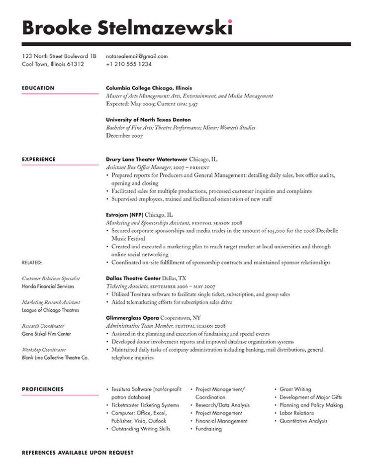 Redesigns a Reader\u0027s Resume Resume layout and Layouts - Cool Resume Format