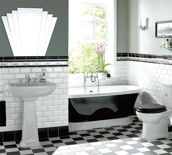Bathroom design art deco style real homes home for Art deco bathroom design ideas
