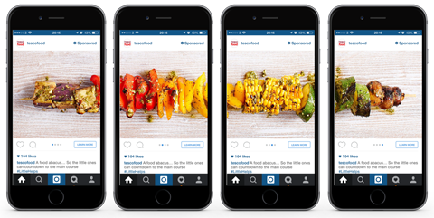 How To Tell Stories With Facebook And Instagram Carousel Ads Instagram Ads Facebook Carousel Ads Instagram Advertising