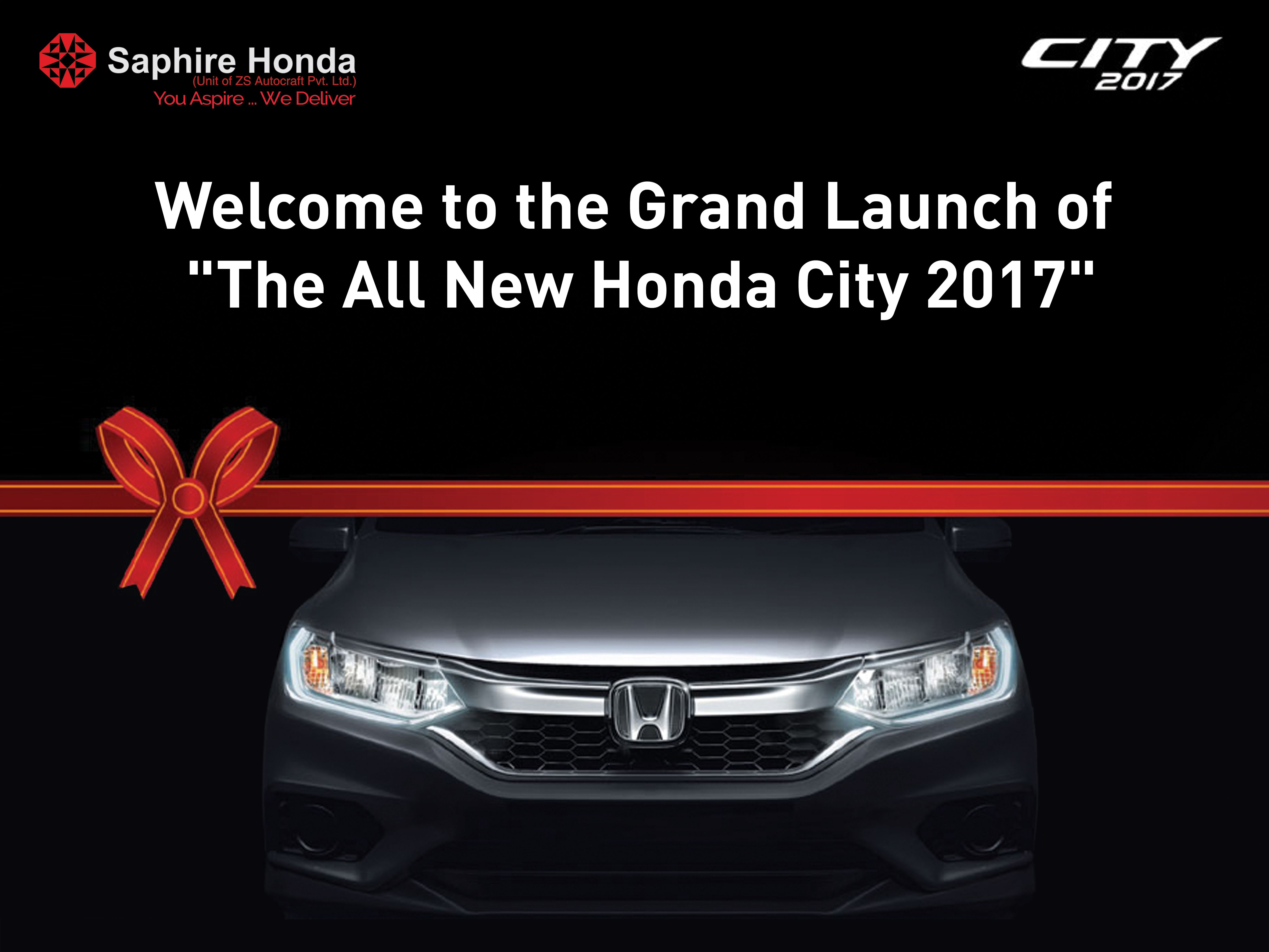 We welcome all for the grand launch of new honda city 2017 at our showroom 12