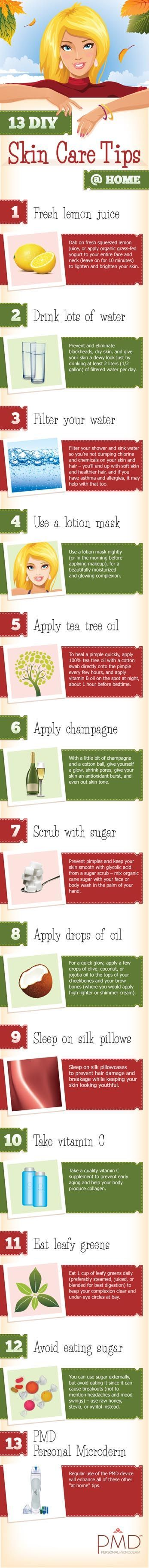 13 DIY Skin Care Tips @ Home! Great for Fall and these cold months ahead of us!