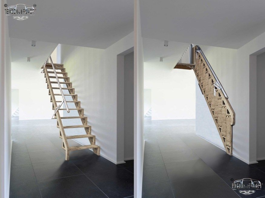 Best This Is An Amazing Folding Stair Design And Would Be Ideal 400 x 300