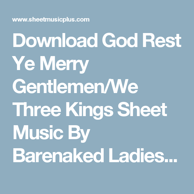 Barenaked god lady merry rest ye