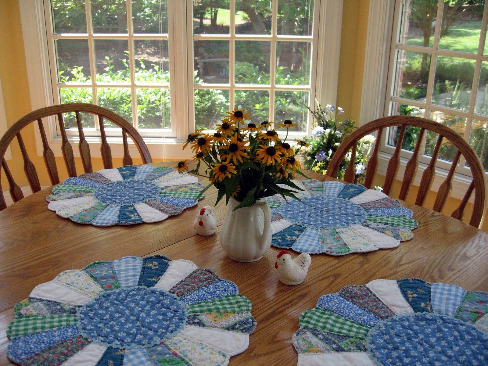 Jogo americano em patchwork ideias para a casa - Casas de patchwork ...
