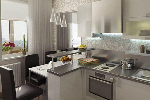 дизайн интерьера кухни совмещенной с гостиной фото 1