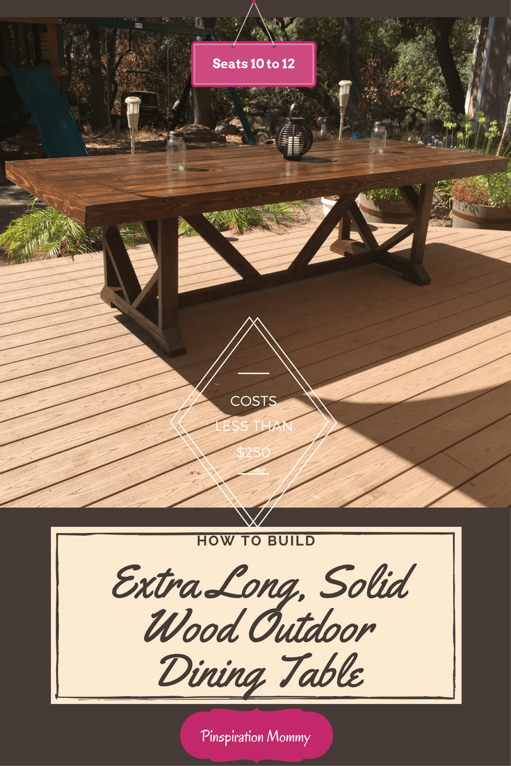 Solid Wood Outdoor Dining Table