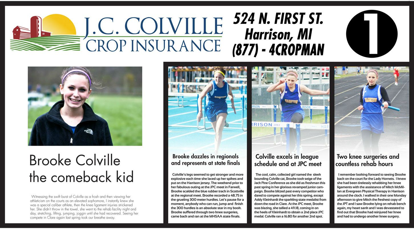 The Story Of The Year Brooke Colville Battling Back And Putting
