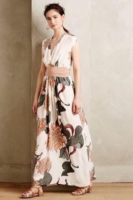Hoss Intropia Forestbloom Silk Maxi Dress