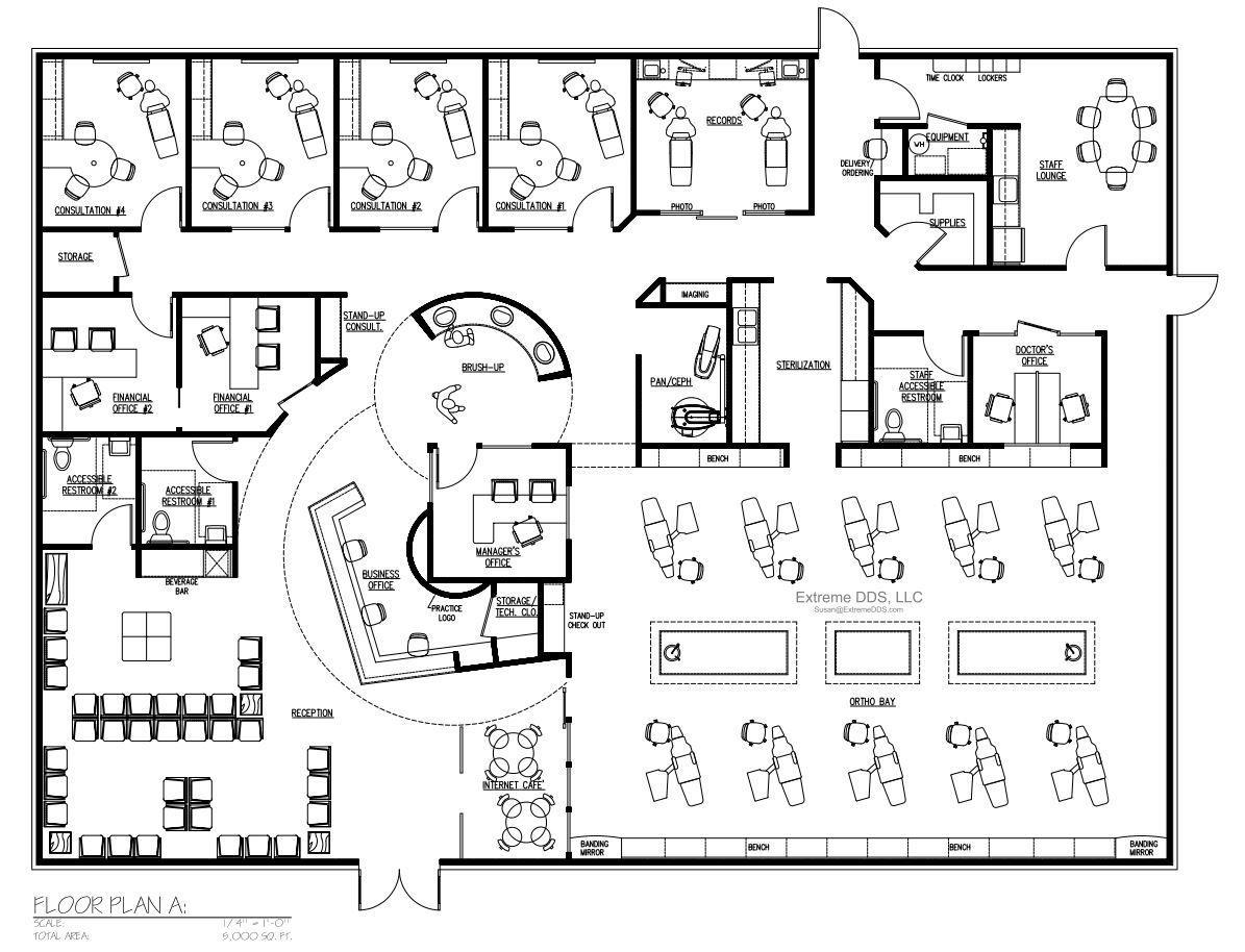 Dental Office Floor Plans, Orthodontic and Pediatric ...