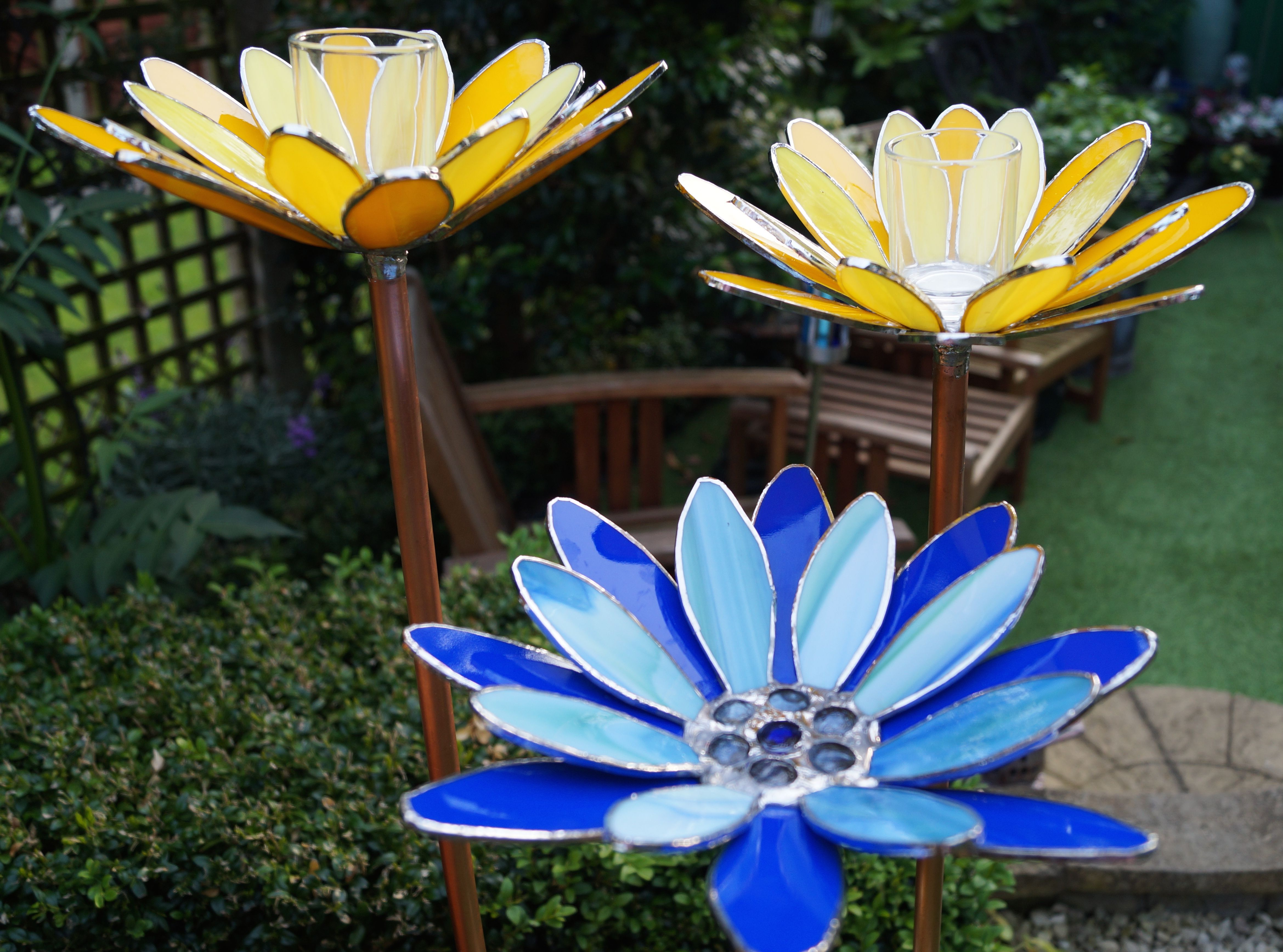 Water Lily Garden Candle Stakes