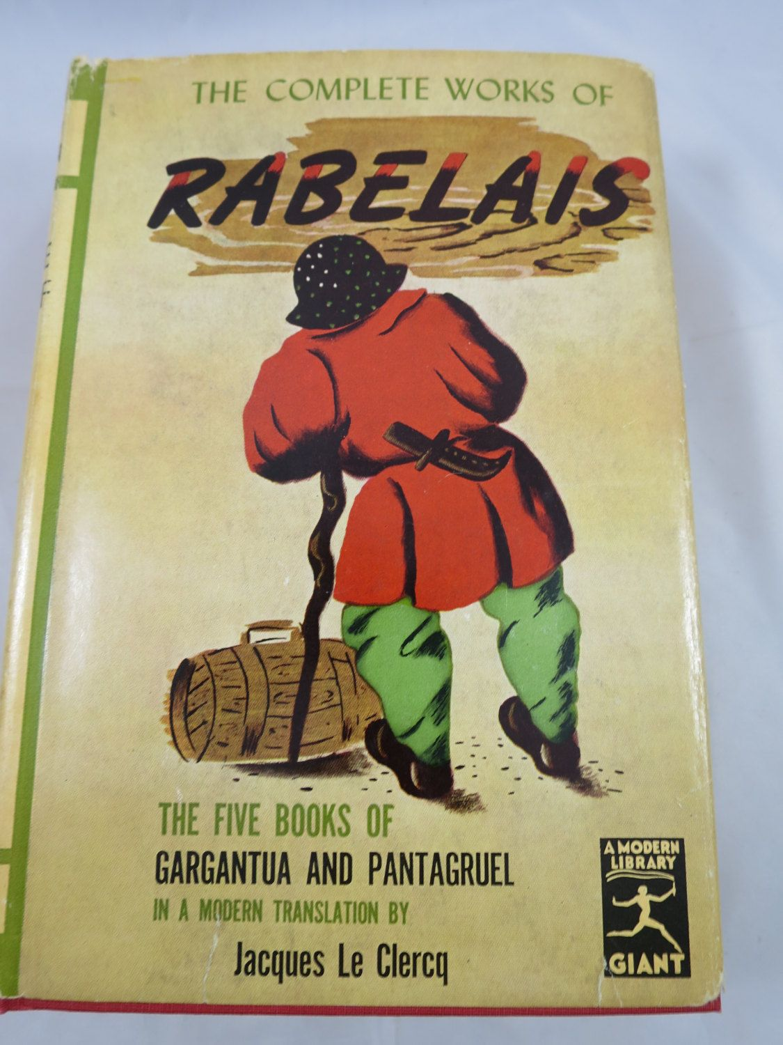 Vintage Rabelais Book Complete Works Modern Library Edition 65th Giant Title Gargantua Pantagruel French Translation By Le Clerq Modern Library Books It Works