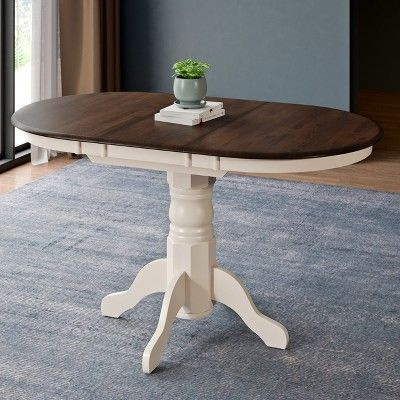 Extendable Dining Table Cream - CorLiving
