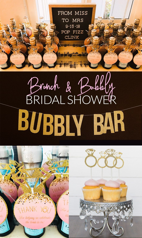 A Bubbly and Brunch Bridal Shower Brunch decor, Bridal