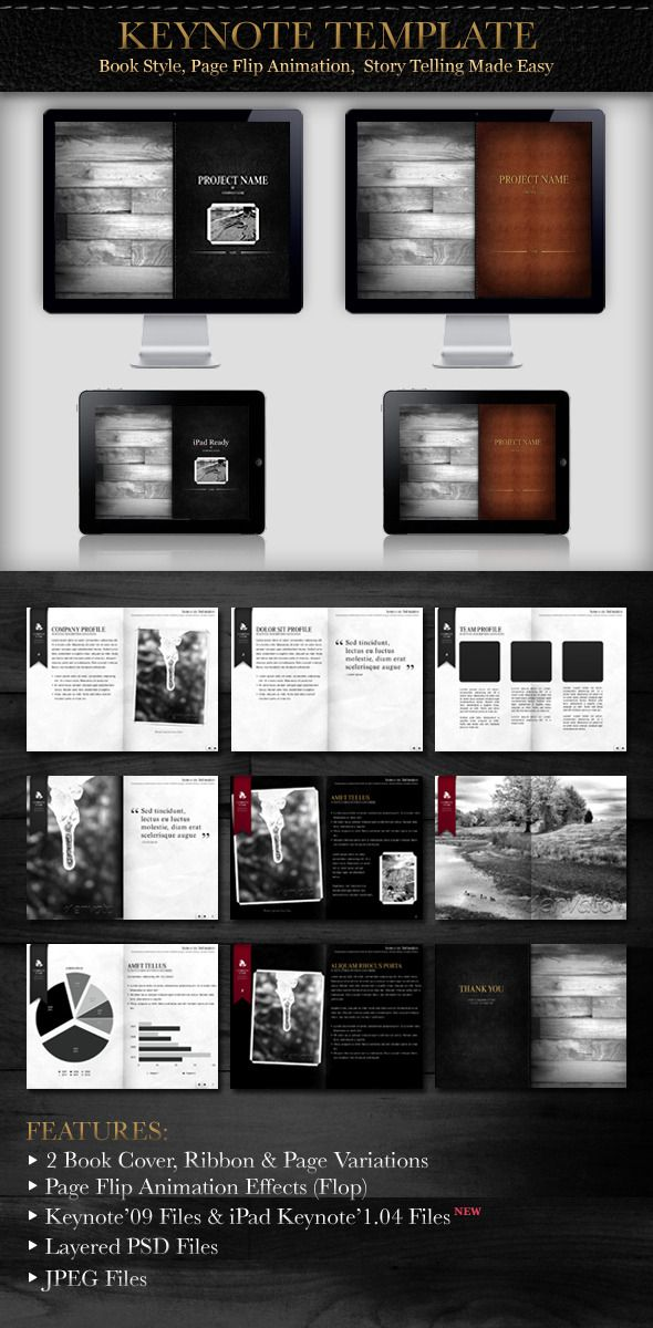 Book Style Presentation  Keynote Presentation Templates And Template
