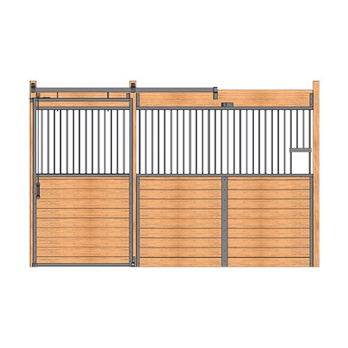 Welded Stall Front With Feed Opening Grill Top Door Kit Stall Fronts Feed Door Horse Stalls
