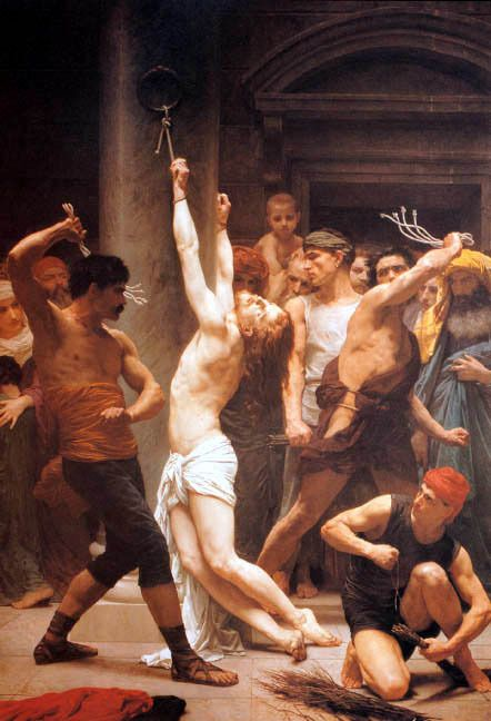 THE FLAGELLATION OF OUR LORD JESUS CHRIST BIBLICAL PAINTING BY BOUGUEREAU REPRO