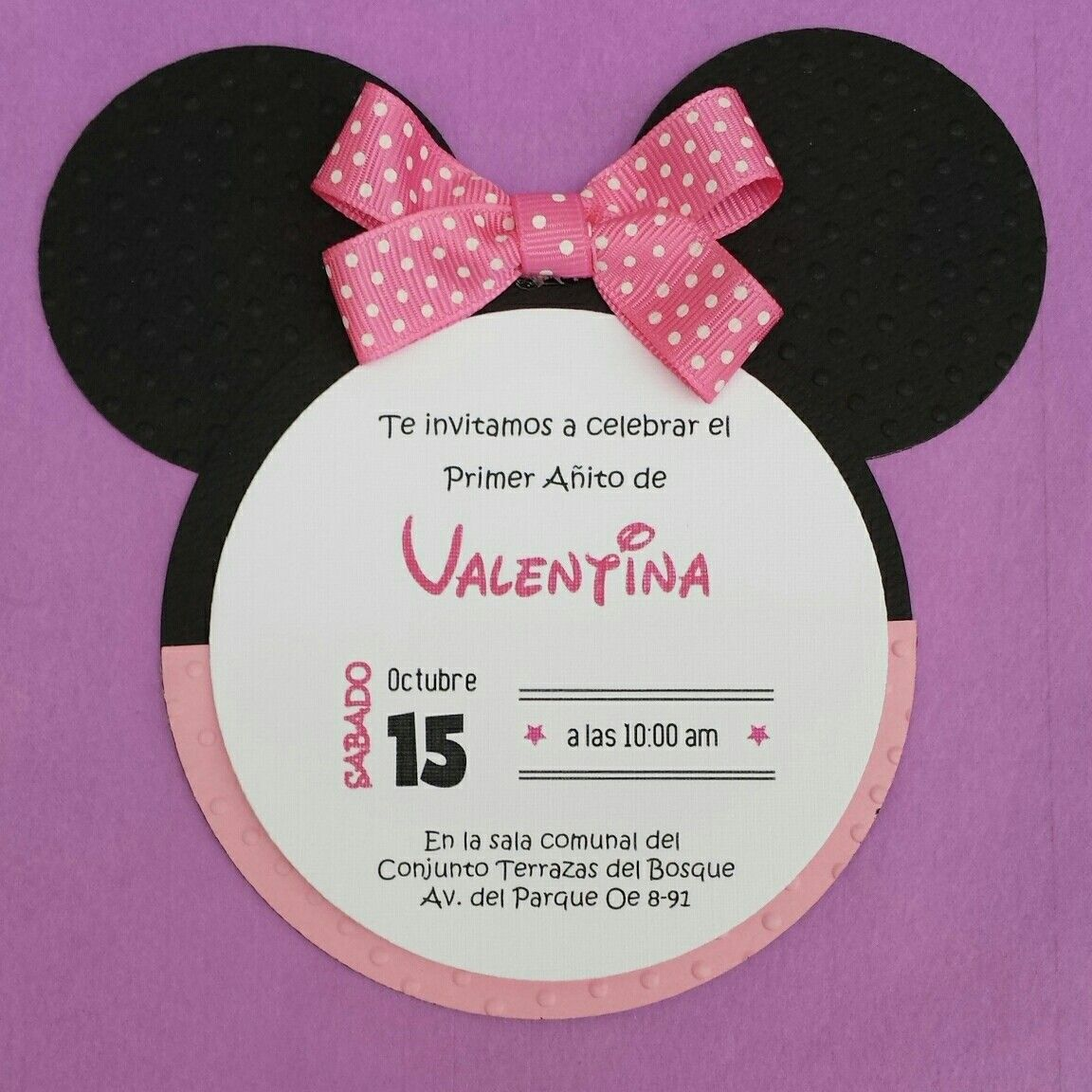 Invitación Minnie En 2020 Invitación De Minnie Mouse