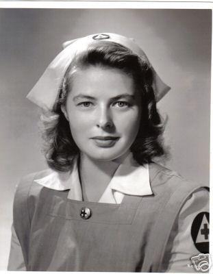 Ingrid Bergman With Red Cross Nurse In 2019 Ingrid Bergman