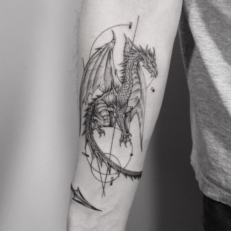 Photo of Dragon … fertig Fleur Noire Tattoo – Brooklyn