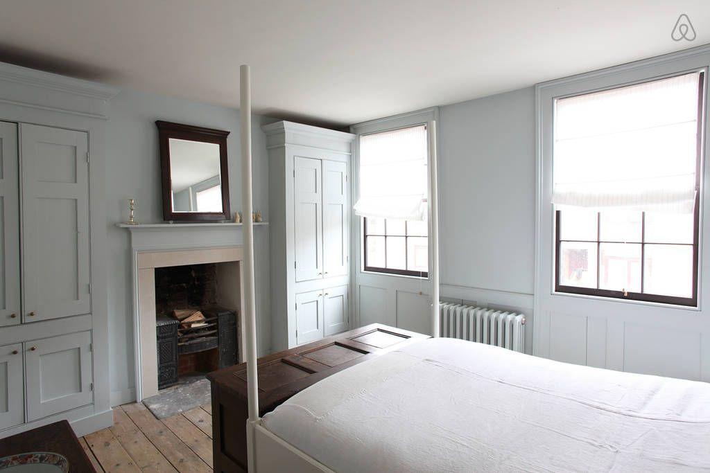 Simple Georgian Bedroom One Colour Walls Cupboards