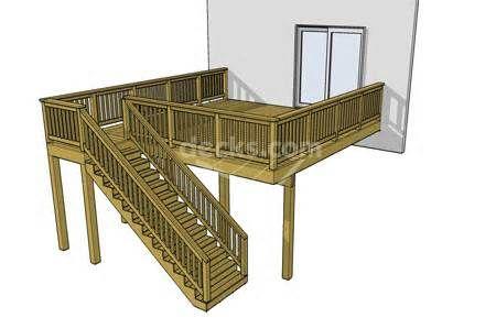 16 X 20 Deck Design Deck Plans Diy Building A Deck Diy Deck