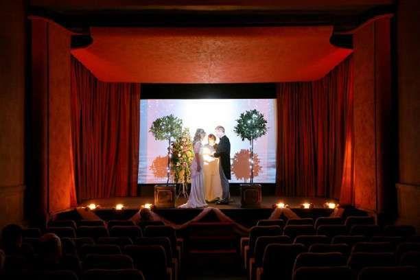 Bath cinema wedding