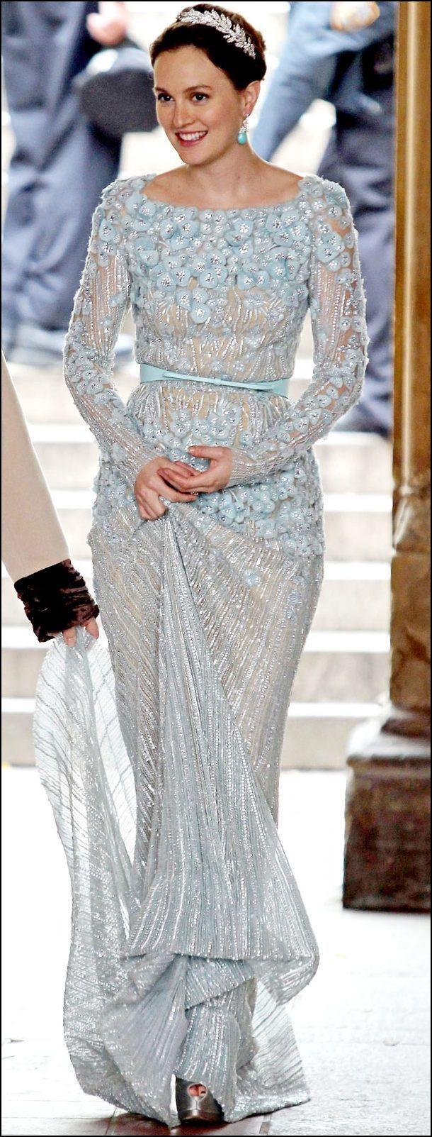 Blair Waldorf Blue Wedding Dress   Wedding Ideas   Pinterest ...